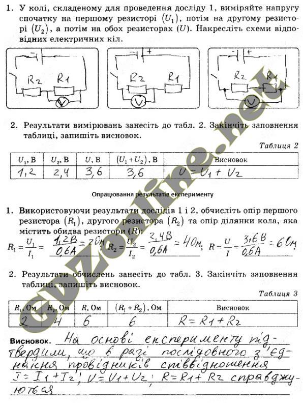 Фізика 9 Клас Божинова ГДЗ Лабораторна