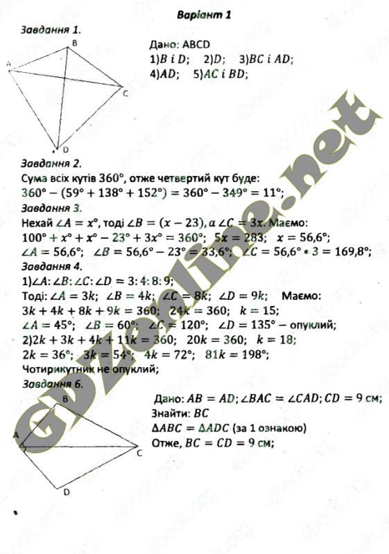 Гдз 8 клас мерзляк збірник по геометрії