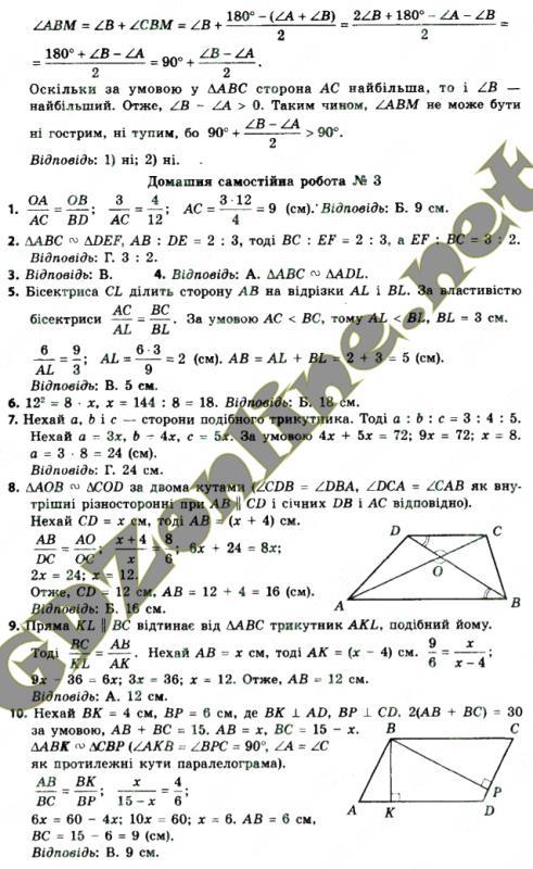 Гдз З Геометрії 8 Клас 2017 Єршова
