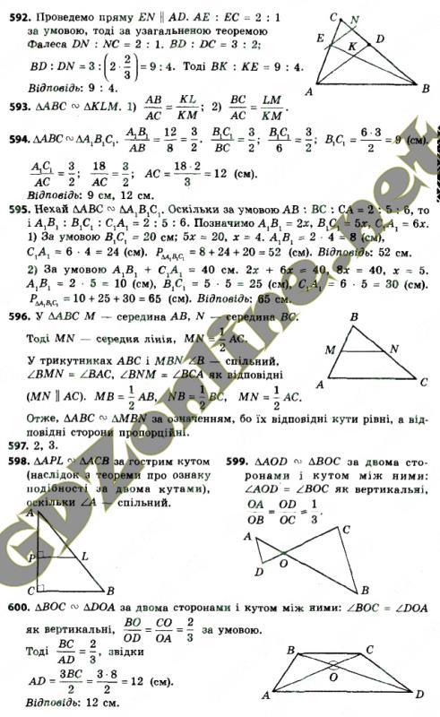 8 за геометрия програмою класс истер 2018 гдз новою
