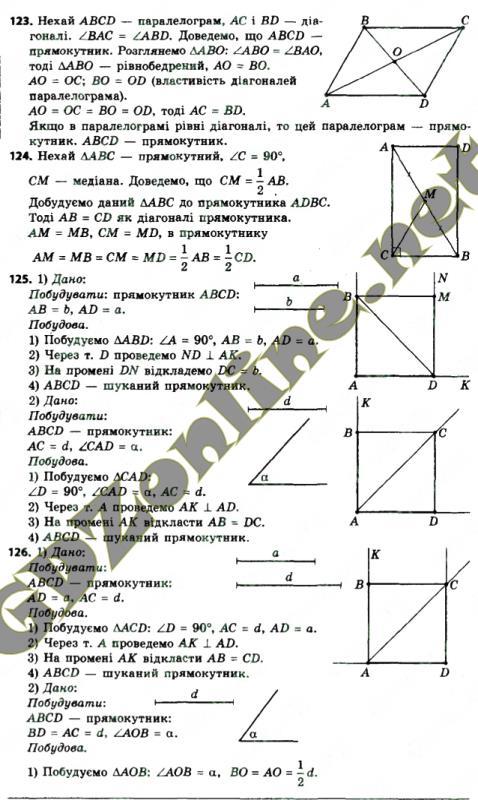 Гдз геометрия 8 клас за новою програмою