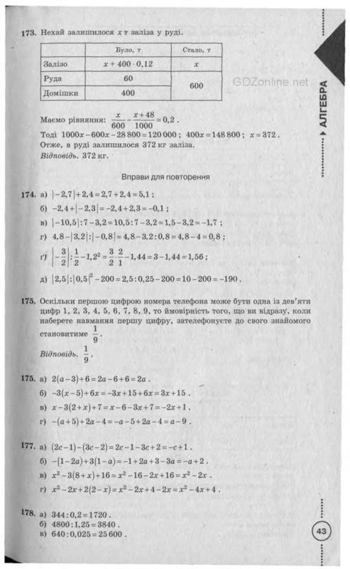 Все ГДЗ 7 Класс Алгебра Бевз