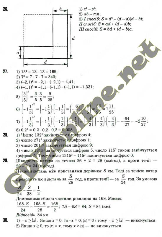 алгебра 7 класс истер гдз