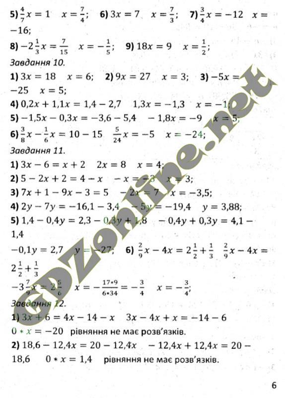 Гдз по збірнику мерзляка 7 клас з алгебри