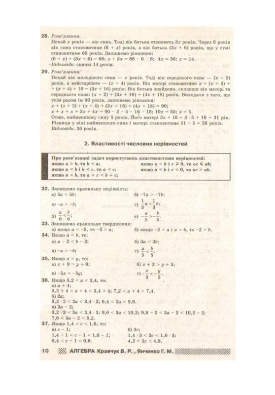 Гдз по Алгебре 9 Класс Кравчук Янченко на русском языке