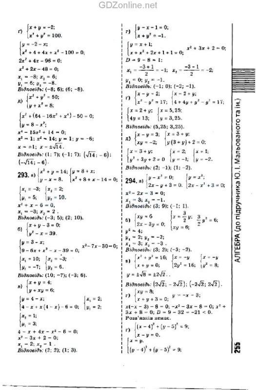 Гдз по алгебре 9 класс мальований литвиненко возняк