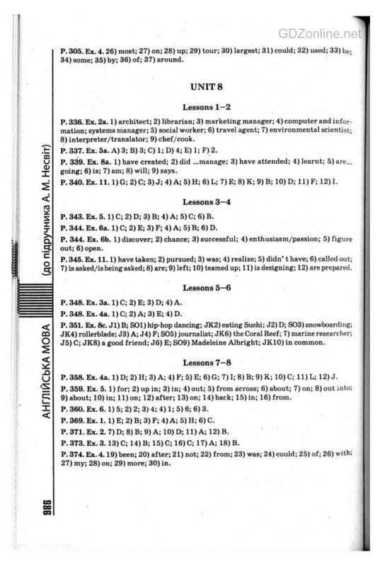Англійська мова несвіт 11 клас