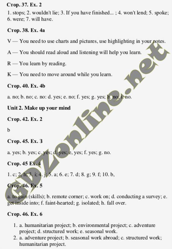 English oksana karpiuk 11 класс решебник