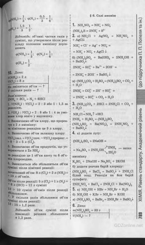 гдз 11 клас хімія попеля