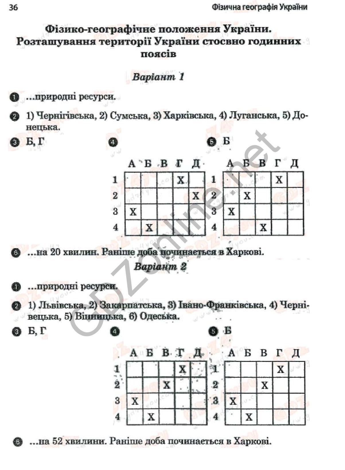 Физическая география украины 8 класс комплексная тетрадь для контрольных знаний скачать