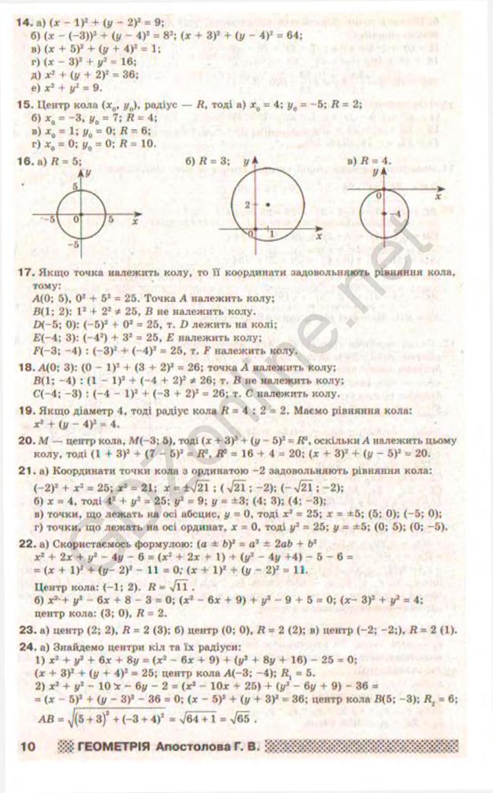 Решебник 9 класс геометрия а г апостолова