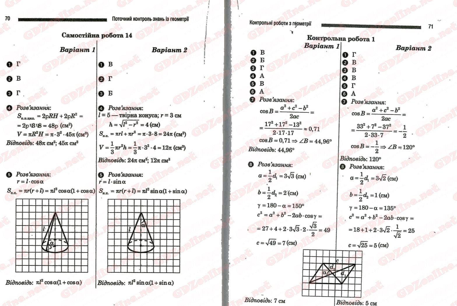 Тематическое оценивание математика 10 класс стадник