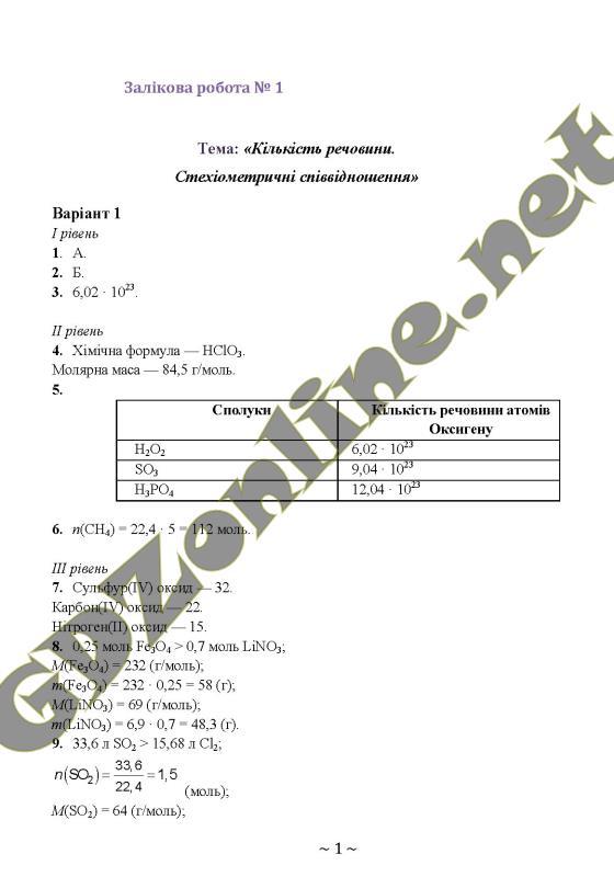 Гдз 8 Клас З Хімії Григорович