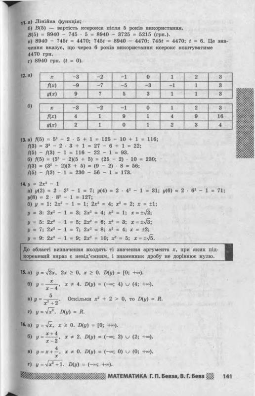 Алгебра 11 бевз учебник онлайн