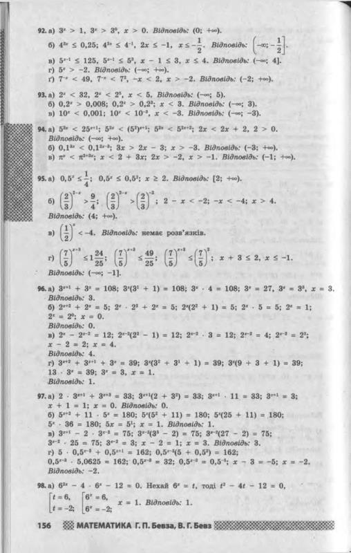 Математика бевз 11 класс книга