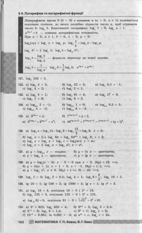 Бевз гдз математика 11 гдз онлайн класс