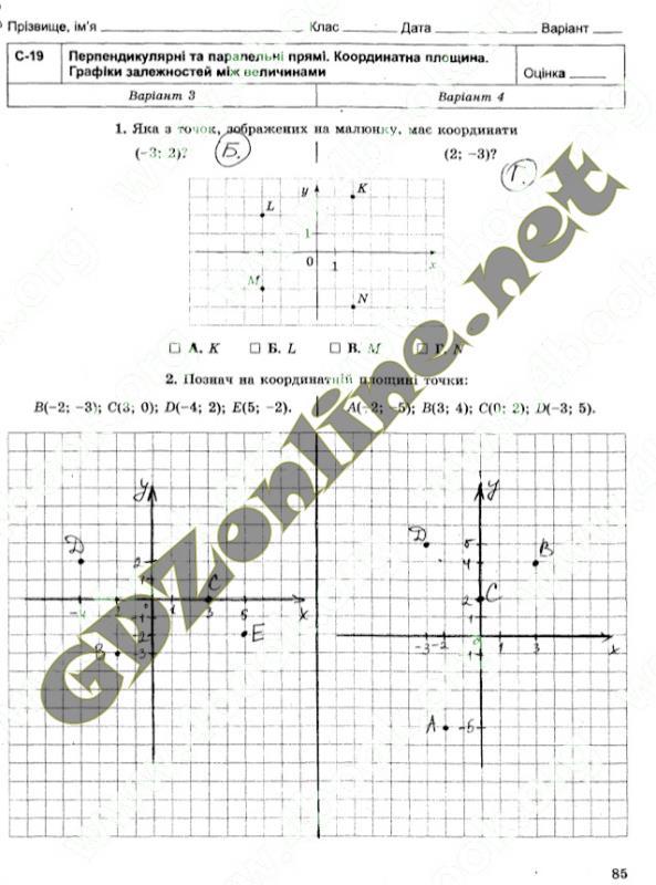 О.с самостійна математика робота 6 гдз клас істер