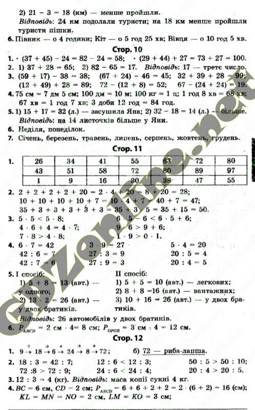 Математика 2 клас Рівкінд Ф М, Оляницька Л В 2012 р Завдання 126 - 150 Стор 25 – 30 ГДЗ/ Відповіді
