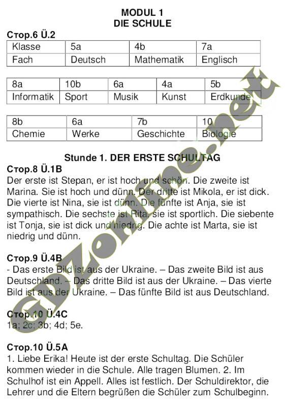 Гдз 6 клас німецька сидоренко палій