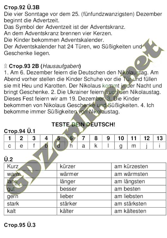 Німецька мова 6 клас Сидоренко 2014