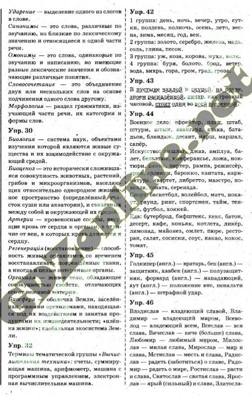 ГДЗ рус яз 6 класс Быкова