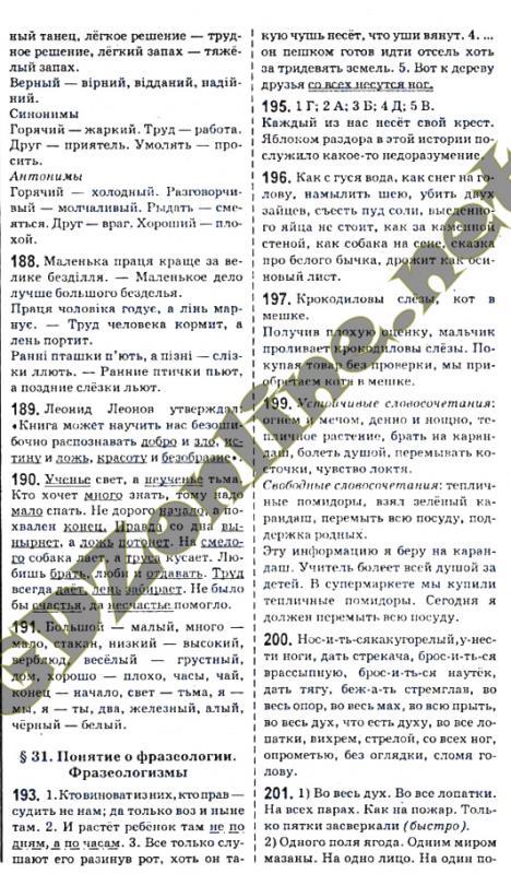 Русский язык 7 класс быкова давидюк ответы