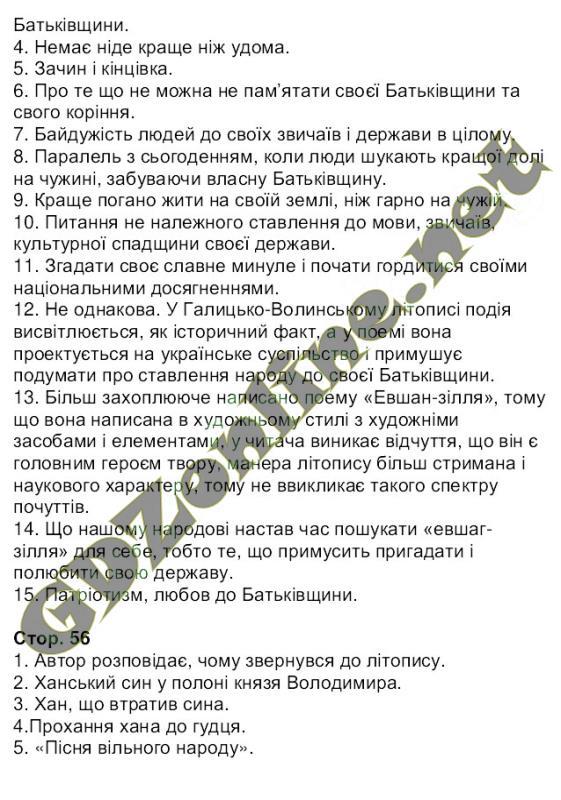 Украинская литература 6 класс Коваленко 2014