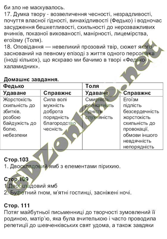 Решебник українська література 6 клас гуйванюк