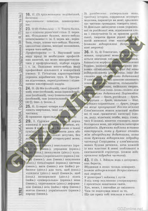 Гдз укранська 10 клас
