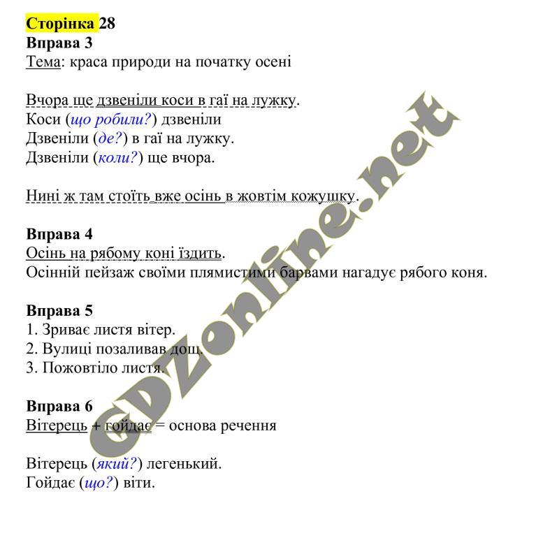 решебник онлайн Рідна мова 4 клас Вашуленко
