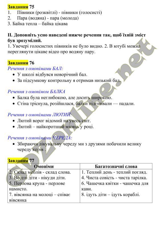 Гдз Украинский язык 5 класс Заболотний ответы к учебнику