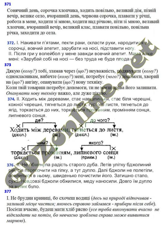 ГДЗ з укр мови 6 класс Тарасенкова