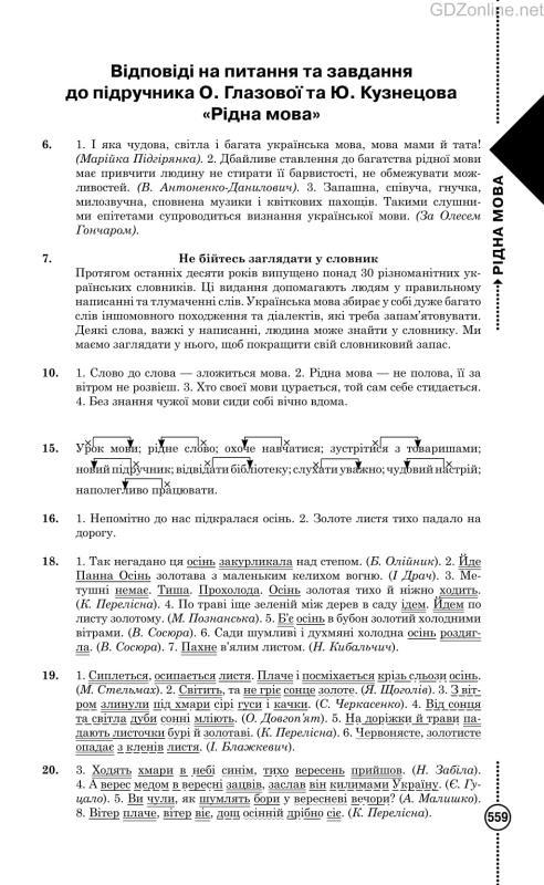 Гдз по Українській Мові 5 Клас Олександра Глазова 2013