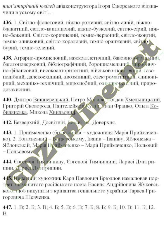 гдз 6 клас укр мови