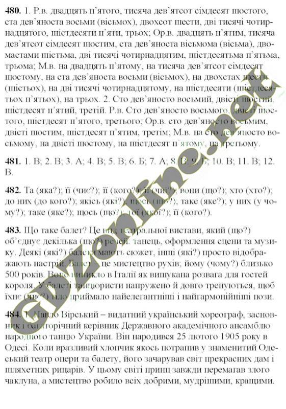 решебник украинськои по мовы