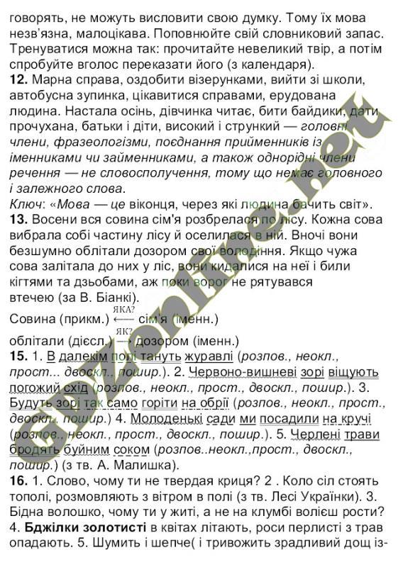 Решебник по украинской мове 6 класс ворон