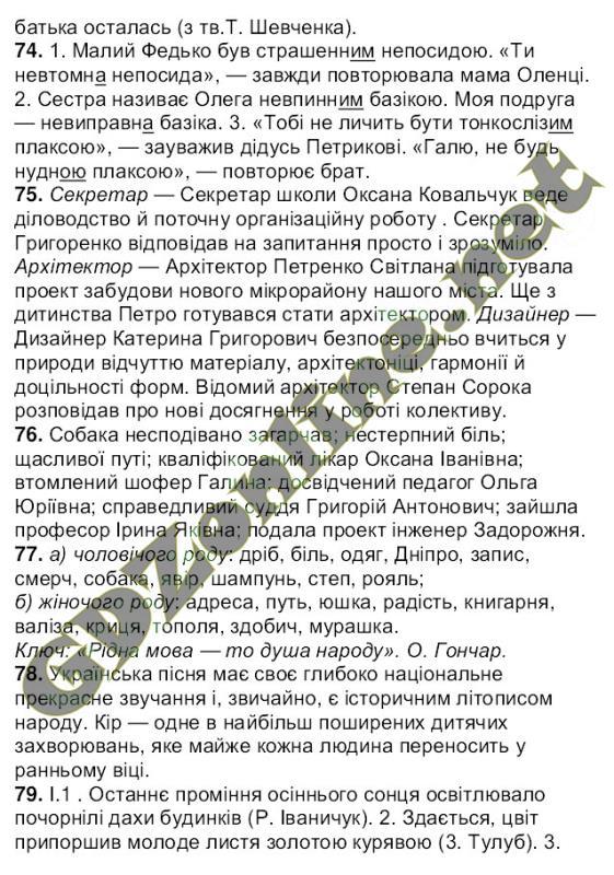 Решебник (ГДЗ, відповіді) Українська мова 6 клас Ворон