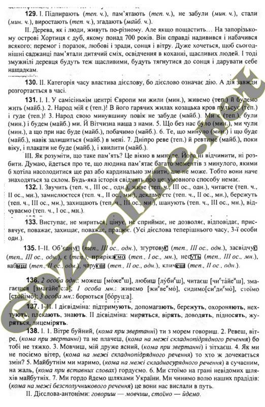 Гдз українська мова 7 клас глазова 2015