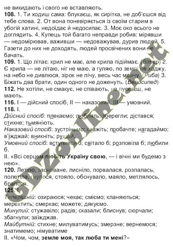 ГДЗ 7 клас українська мова Ющук 2015