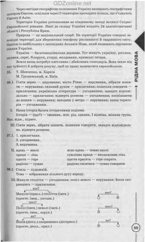 гдз решебник рідна мова 8 клас пентилюк