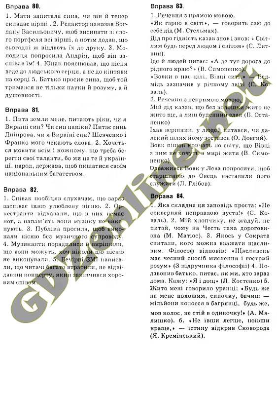 ГДЗ (онлайн решебник) Українська мова 10 клас Глазова