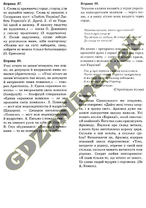 Гдз З Української Мови 5 Клас Глазов