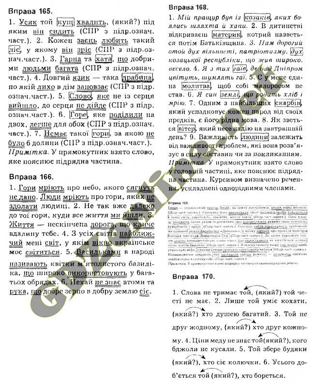 8 укр клас гдз з глазова кузнецов мови